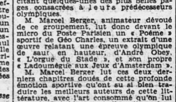 1936 : Chronique sur l'AES dans L'Ouest-Eclair
