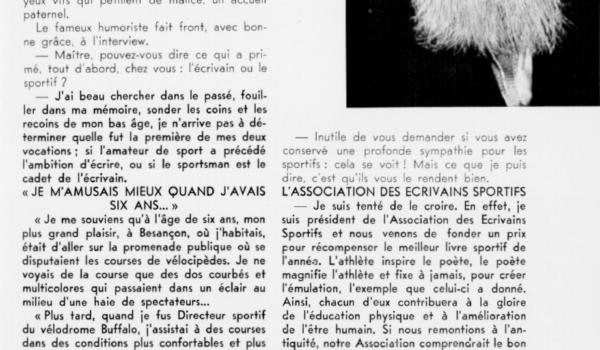 Article de Roger Lamy sur Tristan Bernard
